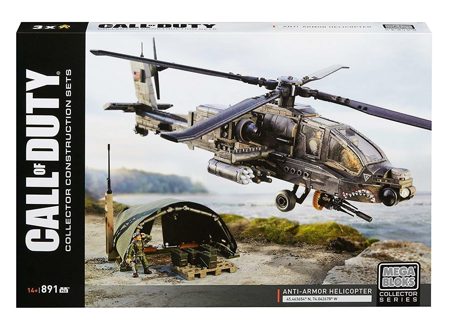 Mega Bloks Call of Duty Anti Armor Helicopter Collector Construction Set DPB60