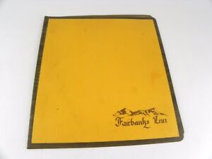 Vintage Original Fairbanks Inn Breakfast Restaurant Menu Fairbanks Alaska