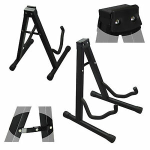 free shipping compact portable folding a shape guitar stand brand new ebay. Black Bedroom Furniture Sets. Home Design Ideas