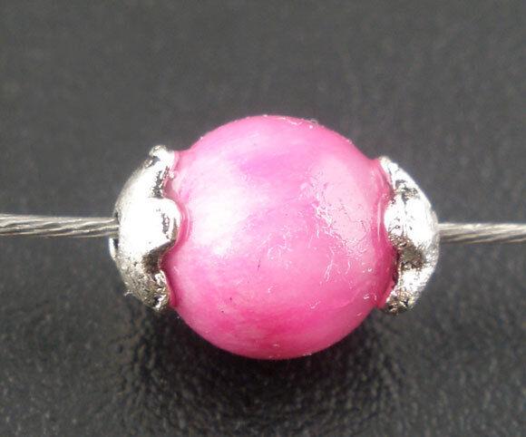 500 Antiksilber Blume Perlen Beads Ende Kappen 4mm für 5-6mm Beads