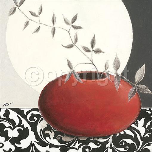 Hanna Vedder  Oh Moon I terminé-image 70x70 la fresque Still Vie Feng-Shui Zen Asia
