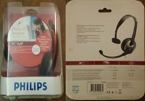 PHILIPS-MONO-PC-HEADSET-CUFFIE-PC-VOIP-SKYPE-MESSENGER-LIVE-YAHOO-ICQ-ETC