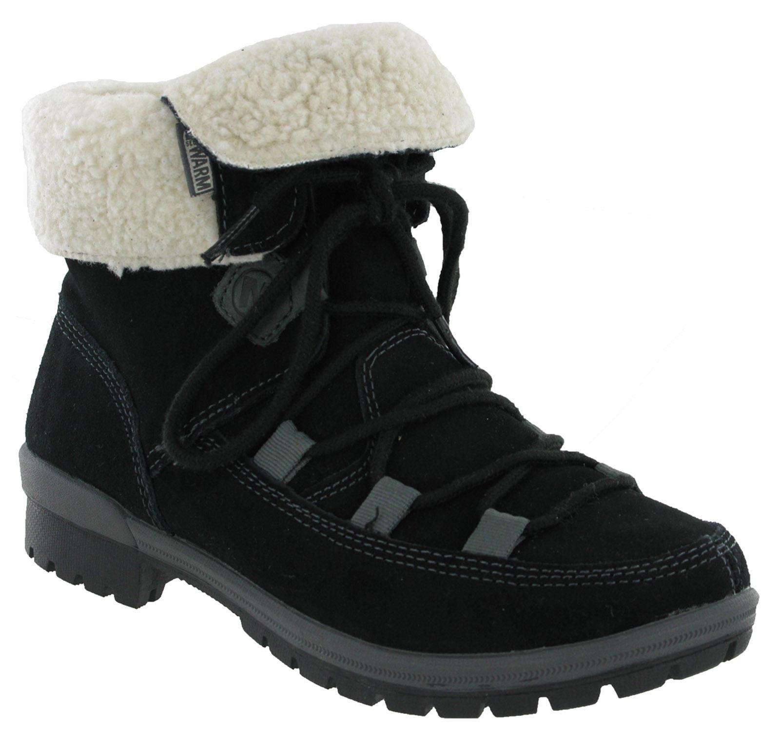 Merrell Esmeril Encaje Cálida Lana Lana Lana Forrada Para Mujer botas al Tobillo Caminar Negro UK3.5-8.5  nueva marca