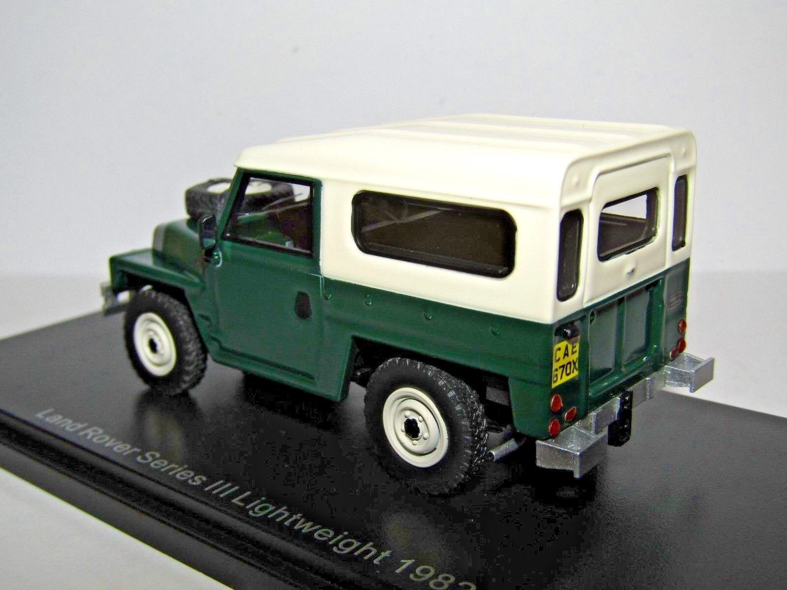 BOS BOS BOS Land Rover Série III Léger 1982 1 43 résine BOS43670 Beste of show fcc00f