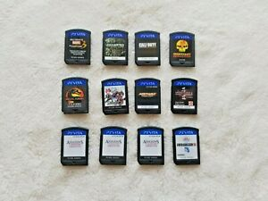 Lot of 12 PS Vita Games - Ultimate Marvel 3 + Uncharted + Call of Duty + Resista