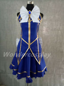 Fairy Tail Lucy Heartfilia Default Uniform Cosplay Costume Party