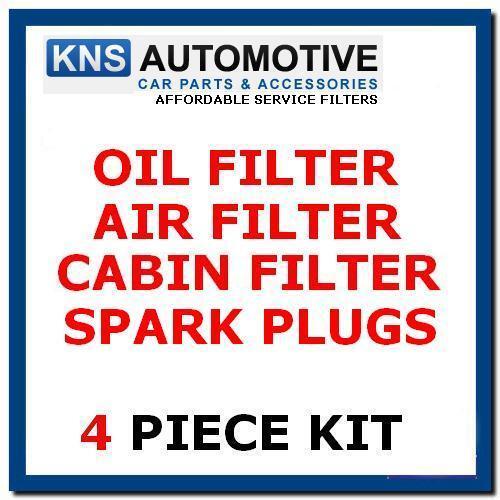 Yaris 1.0 Petrol 02-06 Plugs Cabin /& Oil Filter Service Kit t10p Air