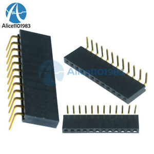 20PCS-2-54-mm-pitch-1x12Pin-Header-Right-Angle-Female-Single-Row-Socket-Connecteur