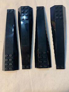 LEGO PART WEDGE 16 X 4 TRIPLE CURVED BLACK X 2    STAR WARS ETC 45301