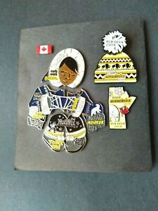 2019-Canada-Winter-Games-CWG-3-Pin-Lot-Eskimo-Puzzle-Set-Team-Manitoba-Red-Deer