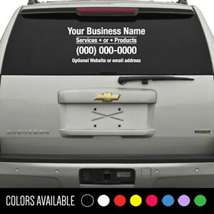 Custom Business Name Decal Window Vinyl Sticker Lettering Car - Custom car decals businesswindow decals