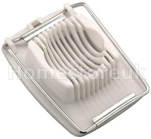 Oeuf bouilli tronçonneuse métallique Cutter Coupe tranches parfaites en plastique blanc 90093