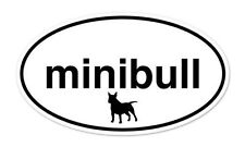 "Miniature Bull Terrier Dog Breed Shape Oval car window bumper vinyl sticker 5"" x"