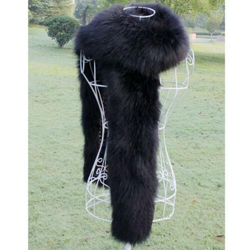 Lady Women Faux Fur long Collar Scarf Fluffy Winter Shawl Wrap Stole warm 2019UK