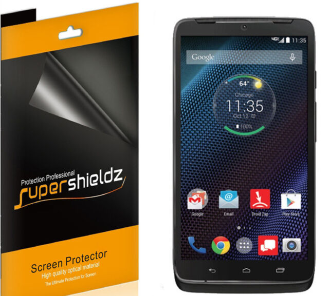 6X Supershieldz HD Clear Screen Protector Shield for Motorola Droid Turbo