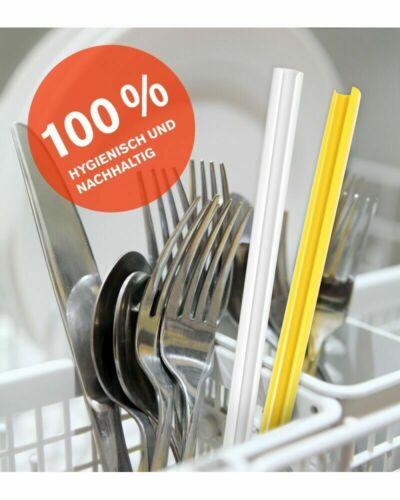 open-to-clean kurz Strohhalm Silico Farbmix wiederverwendbar Trinkhalm
