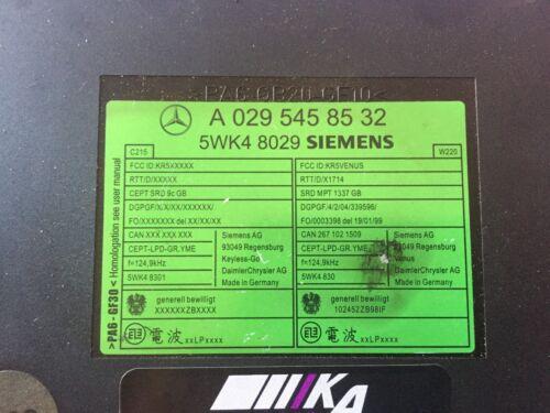 0295458532 Mercedes W220 W215 S Klasse Steuergerät Keyless Go SIEMENS