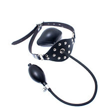Latex Mask Leather Mask With Inflatable Gag Rubber Mask Halloween Hoods