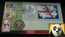 2002 ISLE OF MAN 1 Crown World Cup Japan Korea First Day Coin Cover + COA