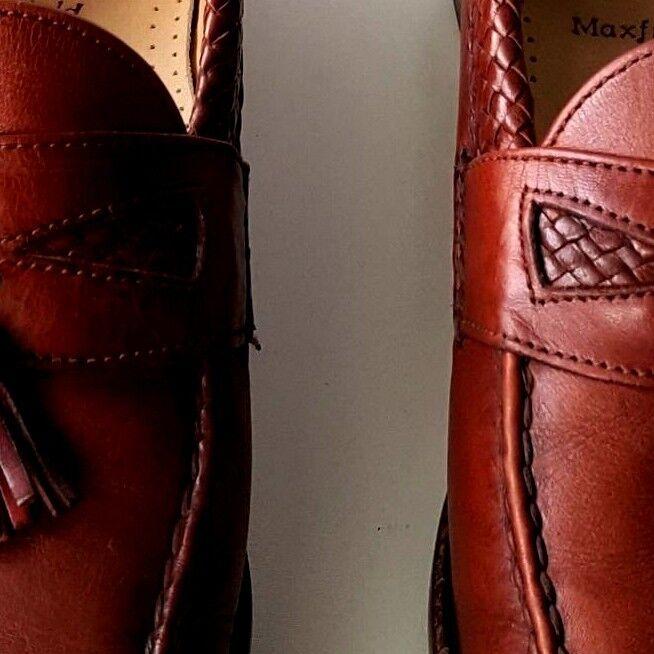 SUPERB ALLEN EDMONDS MAXFIELD BURGUNDY SHOES SIZE 10 1/2 Scarpe classiche da uomo
