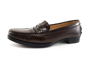df99ecea7e3 Image is loading TOD-S-Penny-Loafers-in-Brown-Leather-Women-