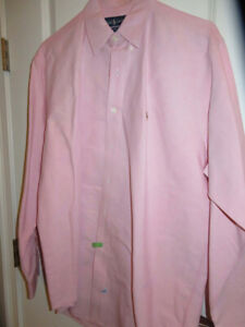 Men-039-s-Ralph-Lauren-YARMOUTH-100-COTTON-OXFORD-16-34-35-Pink-Dress-Shirt