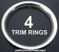 Set Of 4 15 Stainless Steel Wheel Trim Rings Beauty Rims Glamour Ring Rim Band