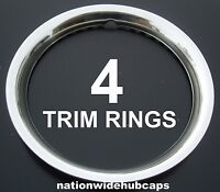 Set Of 4 15 Stainless Steel Wheel Trim Rings Beauty Rims Glamour Ring Rim Band