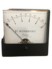 Simpson Model 1327 T Analog Panel Meter 0 10 Dc Microamperes Taut Band New