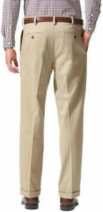 Dockers-Men-039-s-Relaxed-Fit-Comfort-Khaki-Pleated-Pants-D4-Size-W36xL30