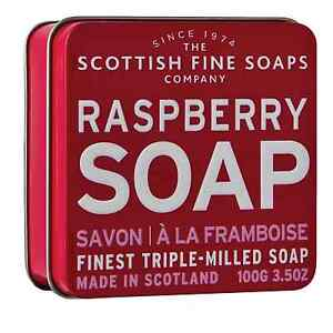 Rasberry Soap in Tin - The Scottish Fine Soap Co