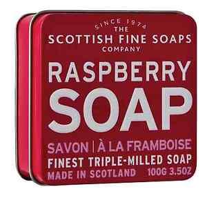 Rasberry Soap in Tin - The Scottish Fine Soap Co