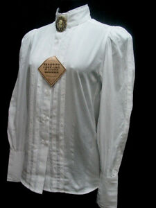 Grace-White-Blouse-Victorian-Frontier-Classics-Pioneer-Old-West-Free-Brooch-S-3X