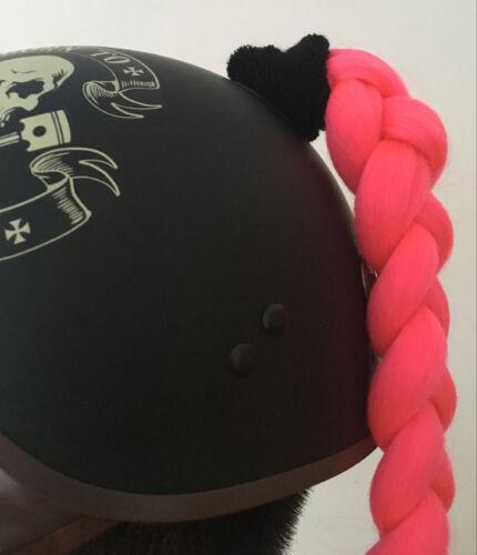 Helmet Pigtails Ponytail Motorcycle Bike Braids Helmet Hair Decoration 1 pcs