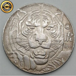 Old Coin Tiger Sale Coins Iron Plated Silver Antique Crafts Ebay