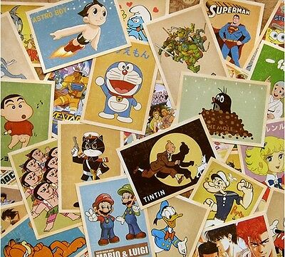 Lot of 32 Classic Animation Cartoon  Characters  Vintage Postcards Post Cards