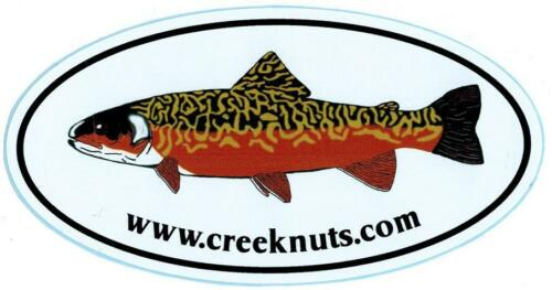 """FLY FISHING BUMPER STICKERS Tiger Trout  2 SIZES 5/""""x3/"""" /& 7 1//2/""""x4 1//2/"""" Decals"""