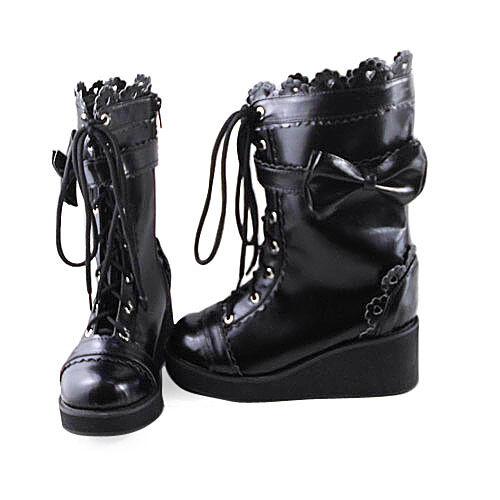 Tokyo stiefel Japan Schwarz Gothic Weiß Boots Lolita Wedges Damen Stiefeletten x0WwTAqHW