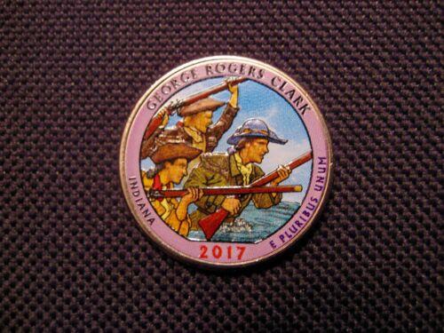 2017 Colorized George Rogers Clark National Park Quarter P Mint