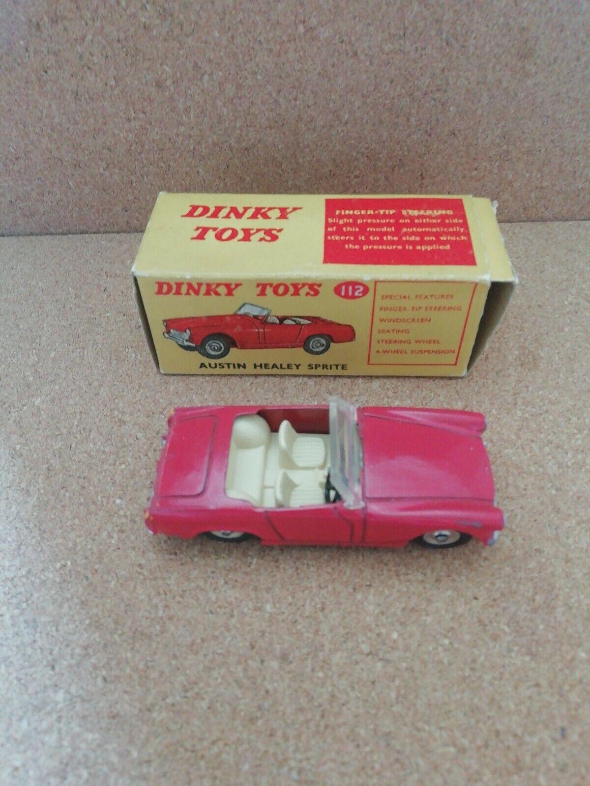 Dinky Juguetes 112 Austin Healey Sprite en Caja Muy Buen Estado