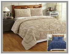 Better Trends Cleo Collection 100% Cotton Chenille Comforter Set