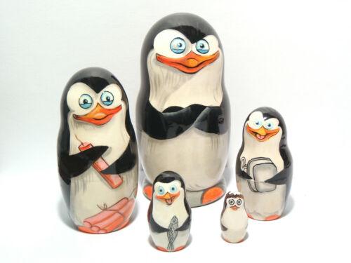 Penguins of Madagascar Nesting dolls Matryoshka 4 in.//10 cm
