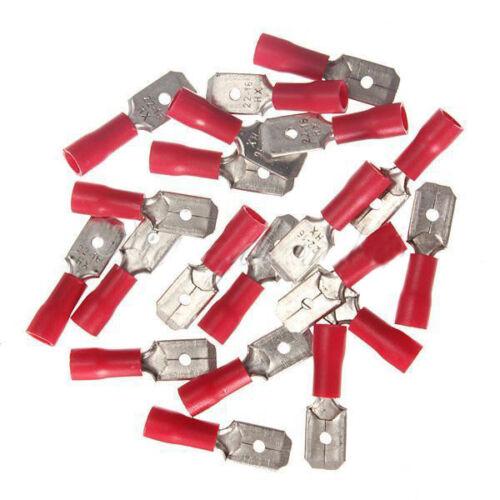 20 x Red Male Insulated Spade Wire Connector Electrical Crimp Terminal U1E6