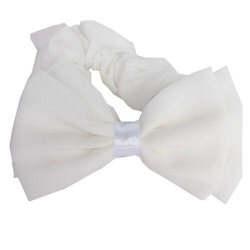 Weisse Schleife Haargummi Kommunion Haarband Konfirmation Hochzeit Bow