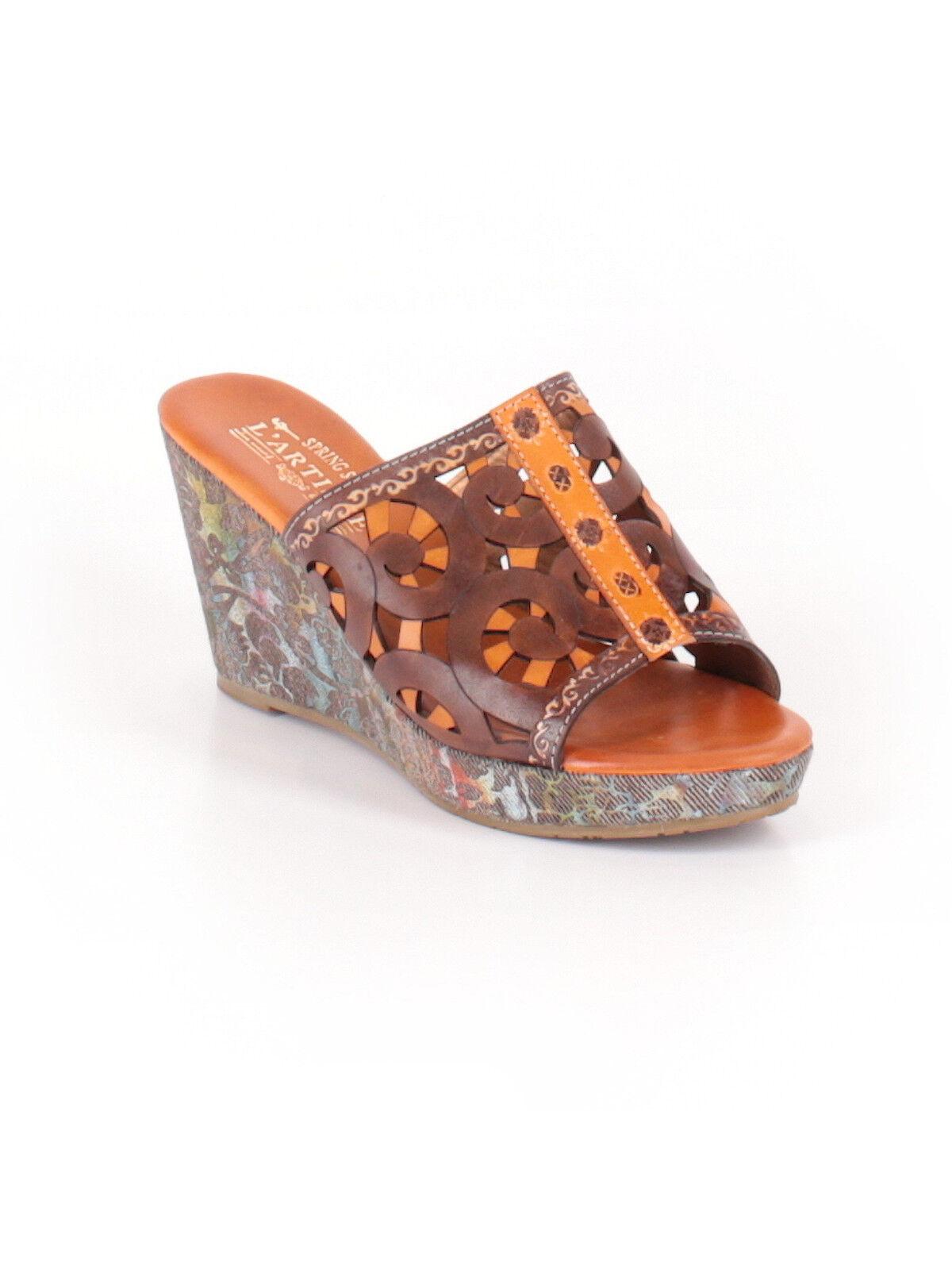 New damen damen damen L'Artiste Zoe Camel braun Wedge Slide Sandal Heel schuhe Größe 39 3f6442