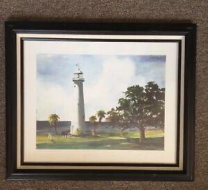 Vintage The Biloxi Lighthouse Rare Richard Lewis Print