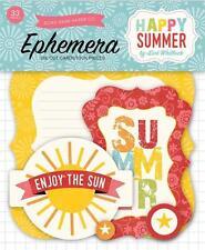 Echo Park Paper HAPPY SUMMER Ephemera Die Cuts 33pc Sun Surf Vacation Planner