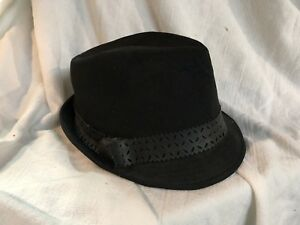 9f202d6cd3c Image is loading Dick-Tracy-Style-Hat-Mens-Ladies-Black-Felt-