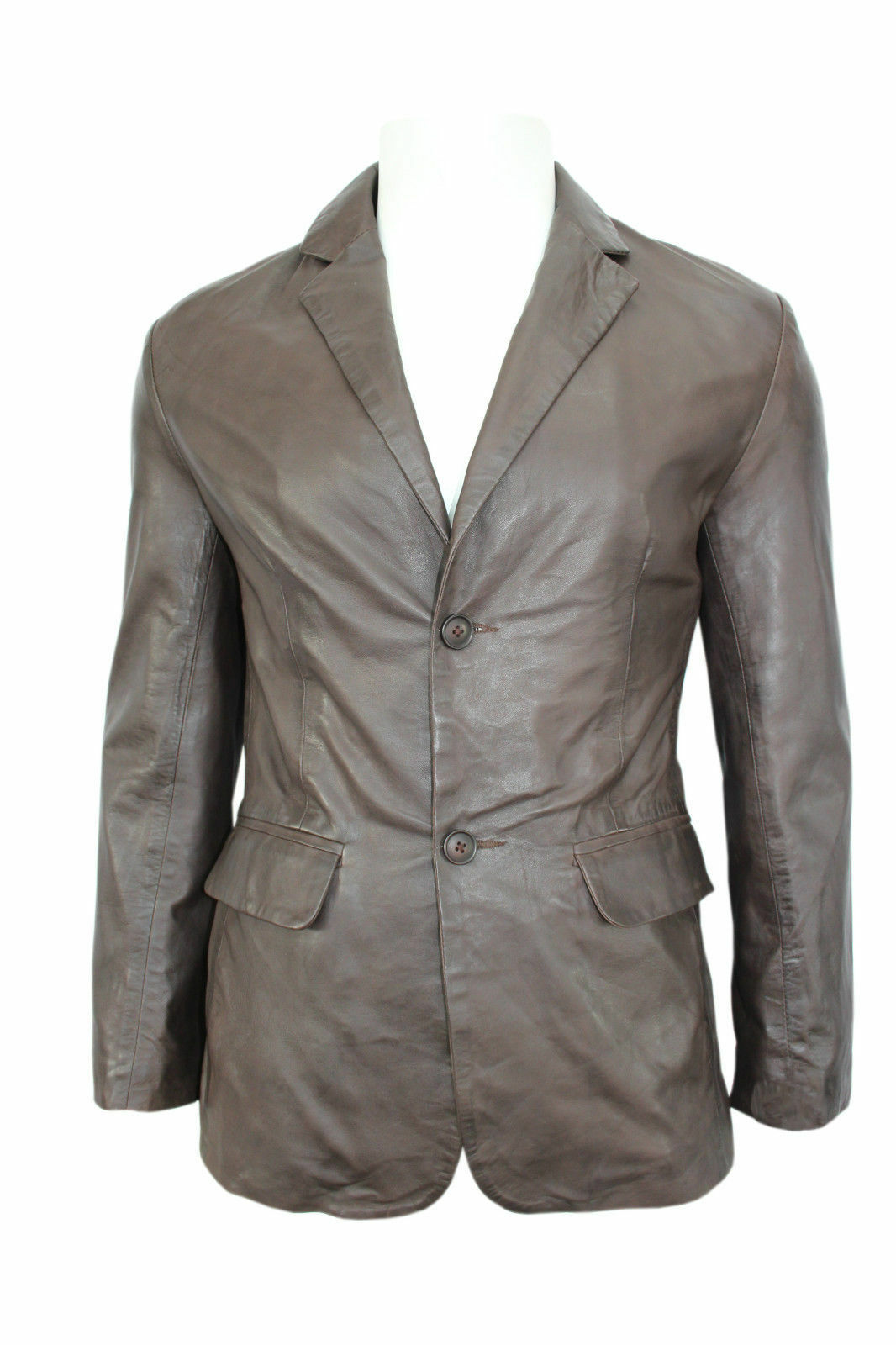 Slim Jim Black Napa Stylish Classic Soft Italian Soft Sheep Leather Blazer