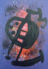 """Joan Miró Vintage montado de impresión, litografía offset, 14 X 11"""", 1972, Miro 2M140"""